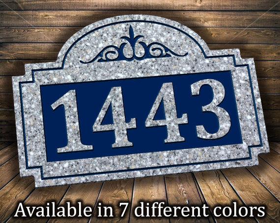Classic Scroll Address Plaque