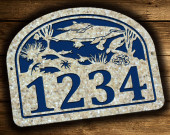 Dolphin Sea Turle Address Plaque