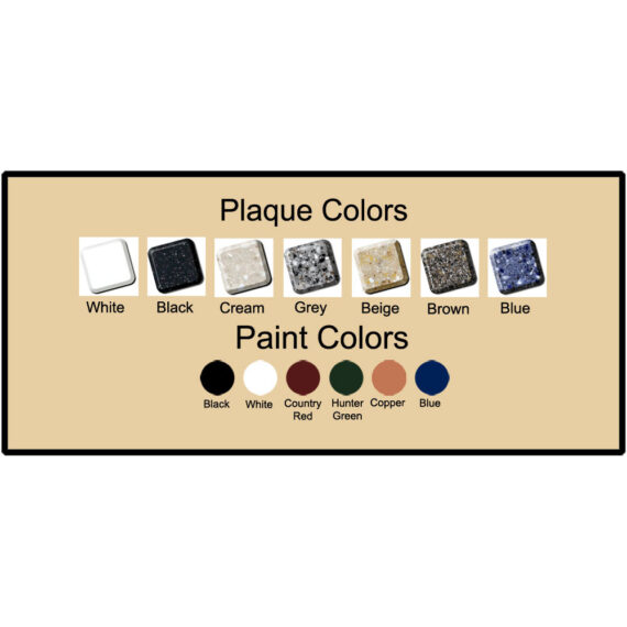 Address Plaque Colors