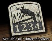 Jumping Deer Address Plaque