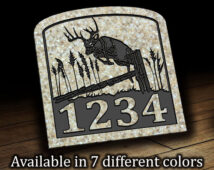 Jumping Deer Address Plaque