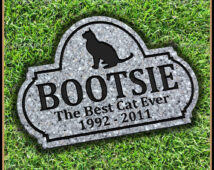 Pet Grave Marker for Cat