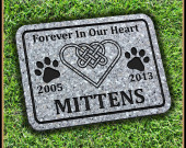 Pet Memorial Stone with Celtic Infinity Heart