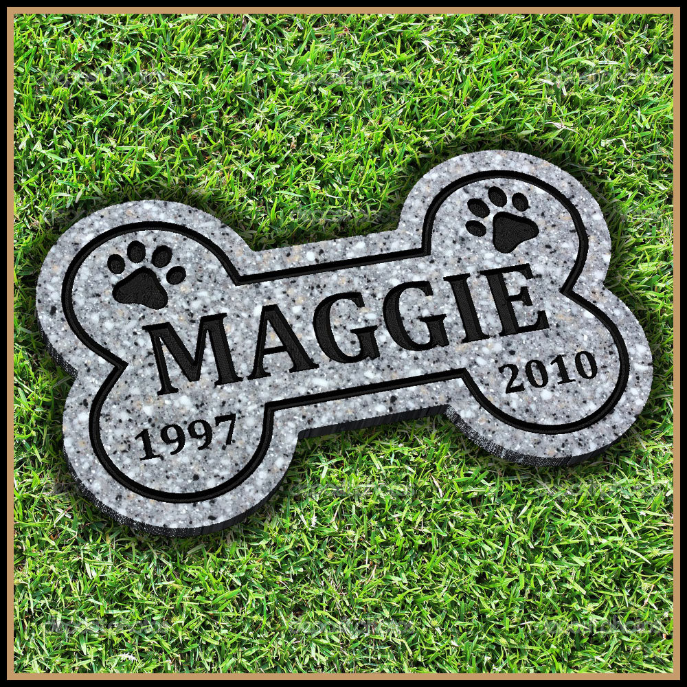 pet memorial stone celtic infinity heart cat dog gravestone