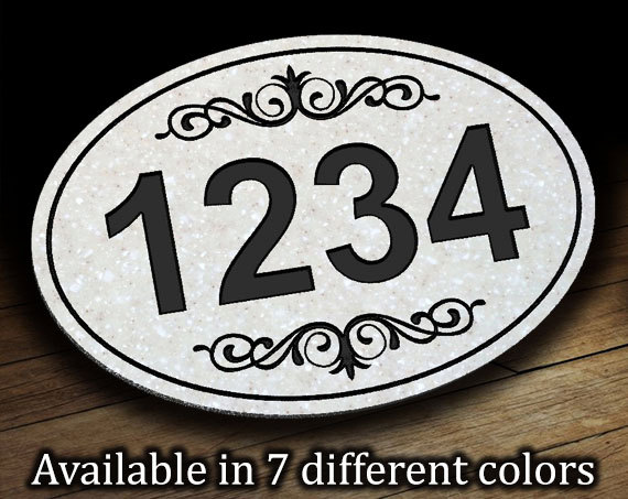Oval Address Plaque