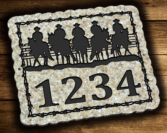 Cowboy Address Plaque