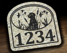 Labrador Retriever Address Plaque