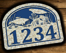Manatee Star Fish Coral Address Plaque