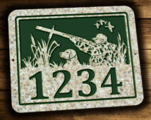 Duck Hunter & LAbrador Retriever Address Plaque