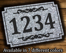 Rectangle Address Plaque
