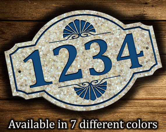 Sea Shell Address Plaque