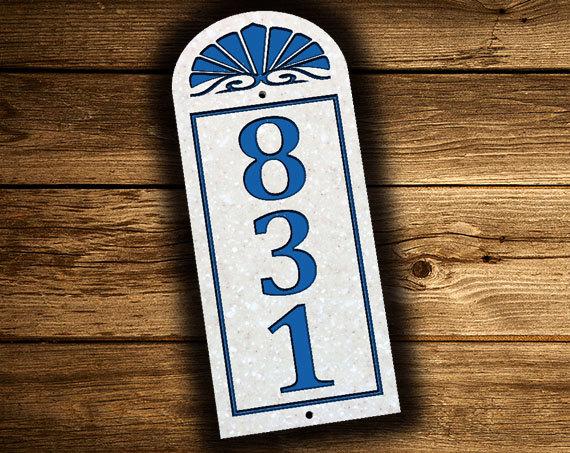 Vertical Address Plaque