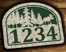Moose Address Plaque