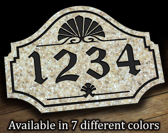 Address Plaque with Sea Shell Motif