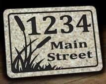 Cattail Address Plaque
