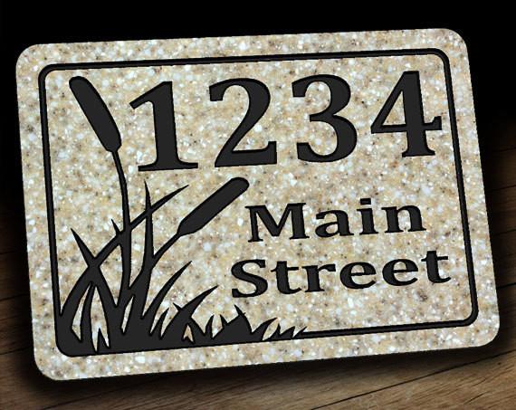 Cattail Address Plaque